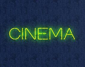3D asset Cinema Neon Sign
