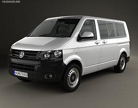 3D Volkswagen Transporter T5 Kombi 2010