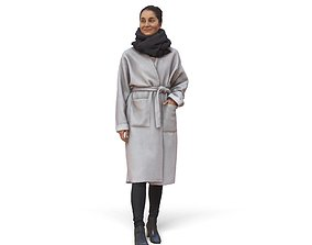 Woman with Classic Coat CWom0343-HD2-O02P01-S 3D