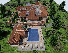 3D model Spanish Modern Modular Villa Assets - 2