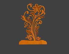 floral realtime 3D Rendering of Gapura Ornament
