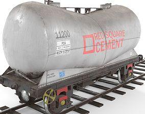 3D asset LOW poly PCA wagon