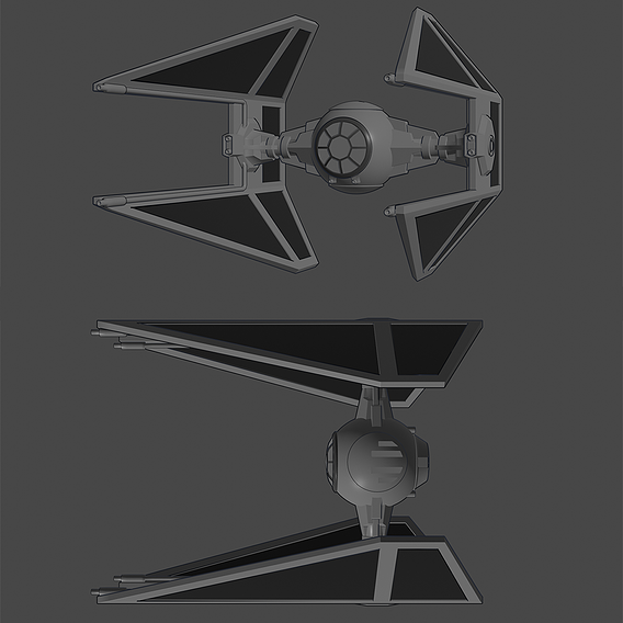 Tie-Interceptor - Toon Shader