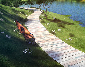 3D Path by the lake