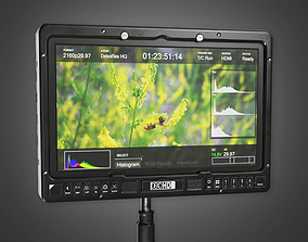 3D model Display Monitor 02a HLW - PBR Game Ready