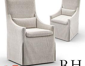 3D RH Belgian Slope Arm Slip Covered Armchair
