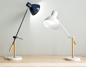 Victor table lamp 3D model wood