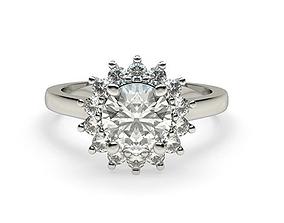 Floral Inspired Ring diamond-ring 3D print model