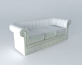 Chesterfield sofa houses of the world 3D model