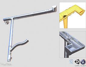3D model New Aluminium Gutter System PBR