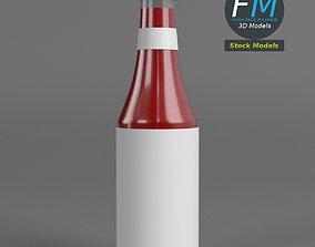 Ketchup bottle 3D PBR