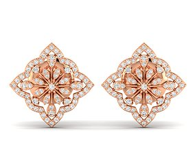 Women earrings 3dm stl render detail gem