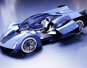 Electric Sports Car Concept 3D