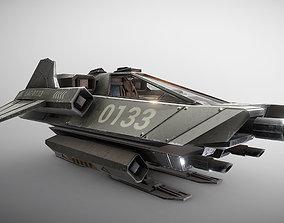3D model Light Assault Craft Fighter and Cockpit