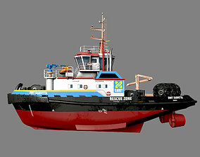 Smith Damietta tugboat 3D asset