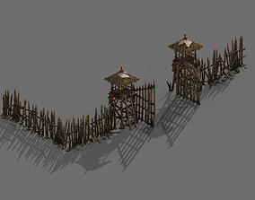 3D Tribe - wooden door