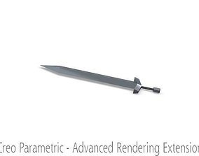 clash of clans barbarian king sword 3D model