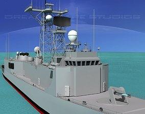3D model FFG-45 USS De Wert Perry Class Frigate