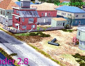 Pubg Pochinki 3d Map low-poly