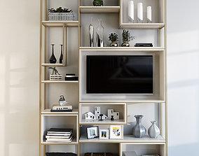 3D model Shelf divider with TV