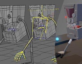 3D asset Robot Rig