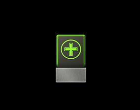 Card Green 3D asset