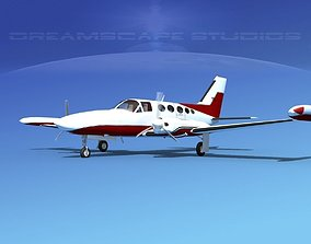 3D Cessna 414 Chancellor V09