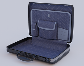 3D model animated a neat detailed Briefcase