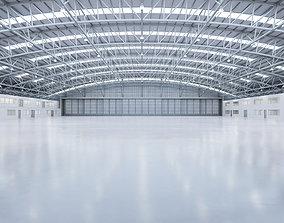 Airplane Hangar Interior 8b 3D asset