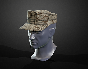 8 point cower 3D model rigged