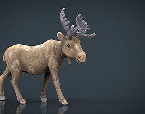 CHRISTMAS ELK 3D asset