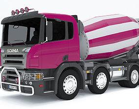 Scania Concrete mixer truck 3D model vehicle 3D model