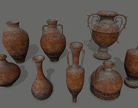 3D model VR / AR ready vase set