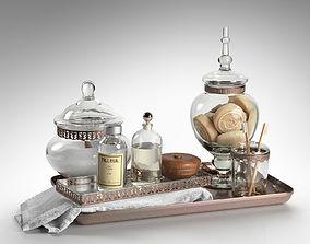 Luxury Powder Room Accessories 3D model