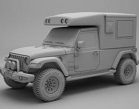 Jeep Wrangler Unlimited Camper 3D model