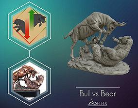 Bull vs Bear sculpture Ready to Print