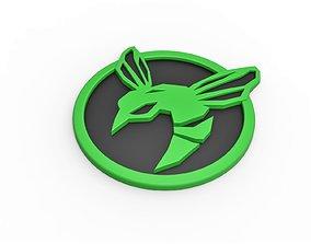 3D printable Green Hornet emblem