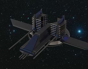 3D model landing-skids Scifi spaceship