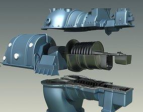 Steam turbine 3D model