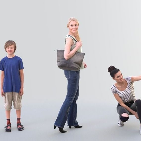 Casual Bundle - Ready-Posed [3DPEOPLE]