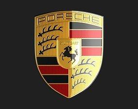 3D model Porsche Logo Emblem