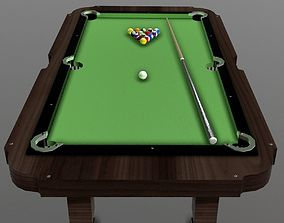 Pool Table 3D model VR / AR ready