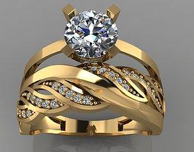 3D print model GC GOLD TW0133- Diamond ring