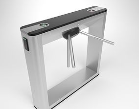 3D Turnstile gate TTD 031G Blender Cycles