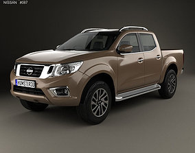 3D model Nissan Navara Double Cab 2015