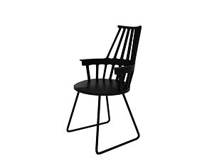Kartell Comback Chair 03 philippe 3D model