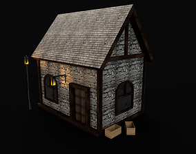 3D model Small Medieval House