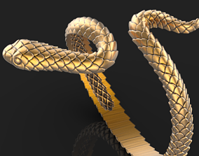 tree Snake Ring 3D printable model