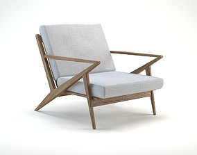 Mid Century Z Lounge Chair 3D model
