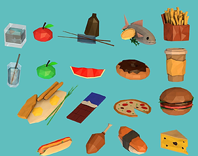 3D asset Food set